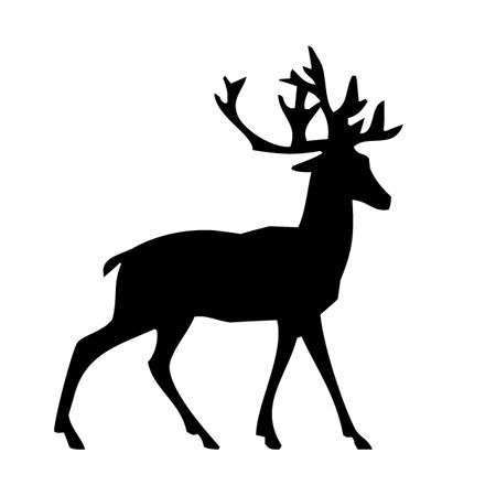 Lean Stag Iron on Decal