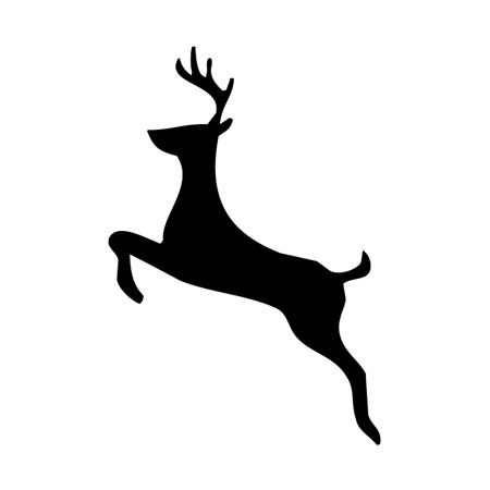 Reindeer Jumping Iron on Decal