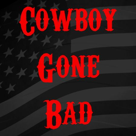 Cowboy gone bad Iron on Decal
