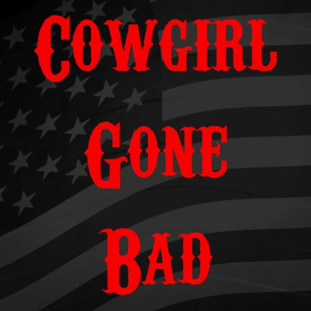 Cowgirl gone bad Iron on Decal
