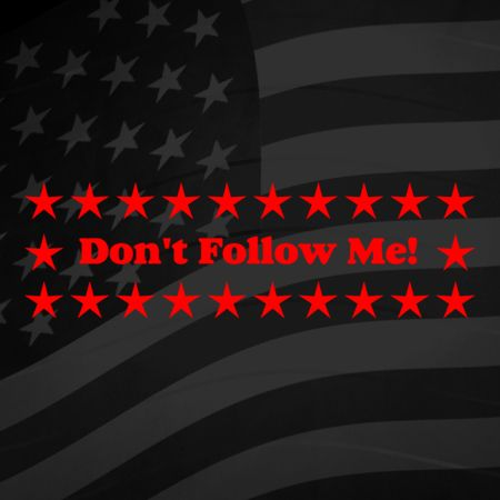 Dont follow me Iron on Decal