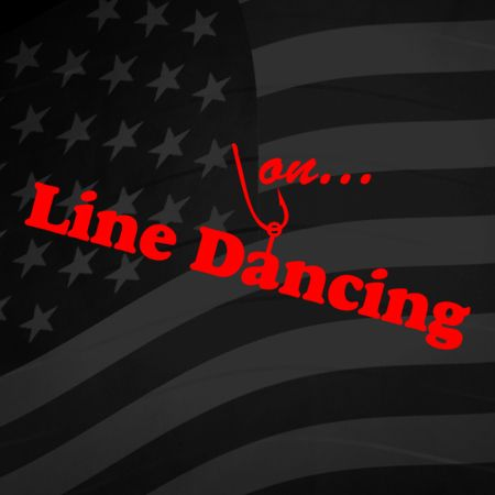 Hooked on Line Dancing Iron on Decal