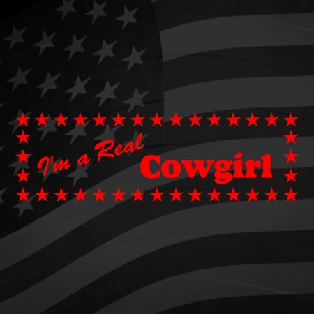 Im a real Cowgirl Iron on Decal