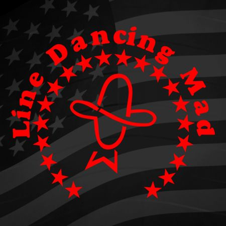 Line Dancing Mad Iron on Decal