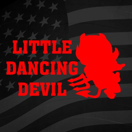 Little Dancing Devil Iron on Decal