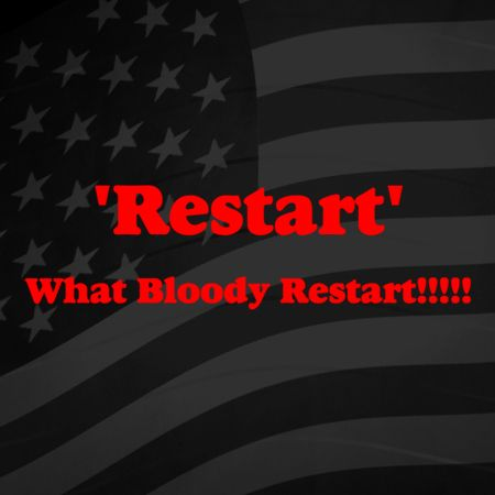Restart what bloody restart Iron on Decal