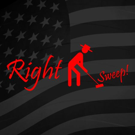 Right Sweep Iron on Decal