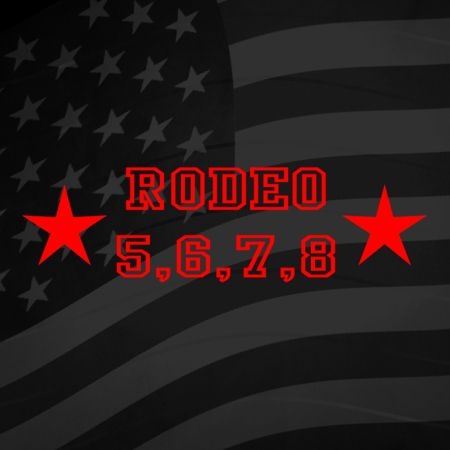Rodeo 5 6 7 8 Iron on Decal