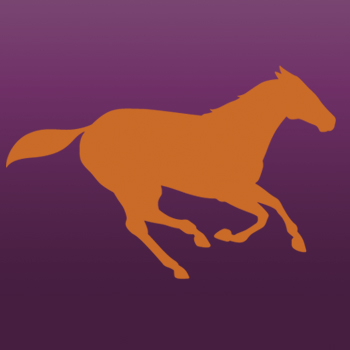Running Horse Iron on Decal