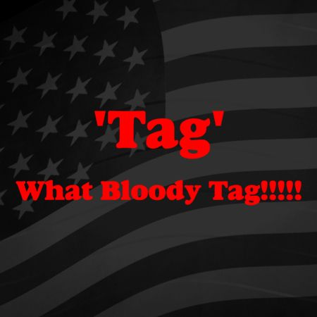 Tag what bloody tag Iron on Decal