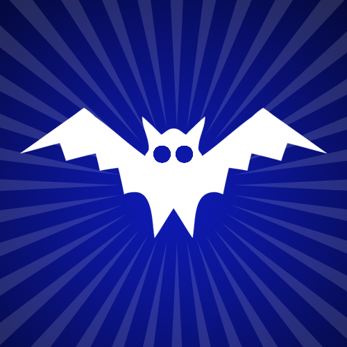 Bat Iron on Decal