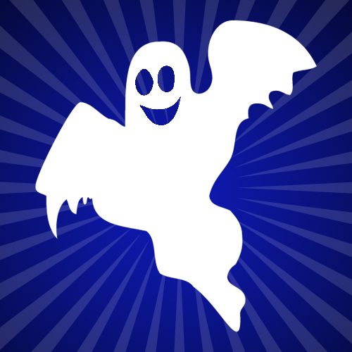 Scary Cute Sheet Ghost Iron on Decal