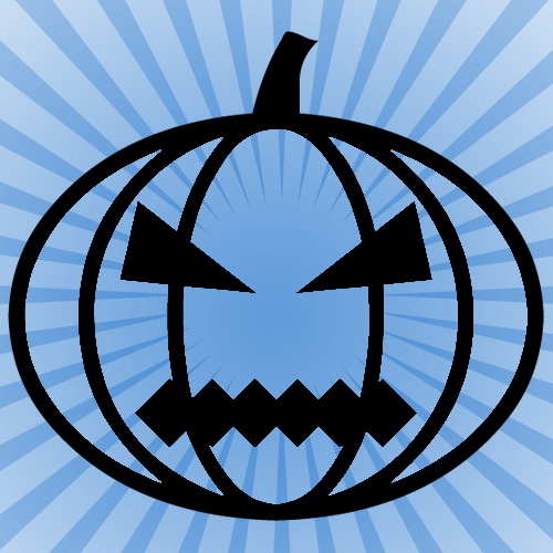 Halloween Pumpkin Jagged Mouth Iron on Decal