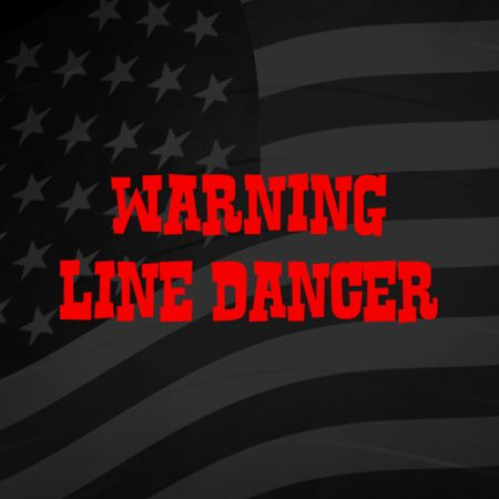 Warning Line Dancer Iron on Decal